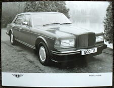 BENTLEY TURBO R PRESS PHOTOGRAPH BLACK & WHITE UNDATED