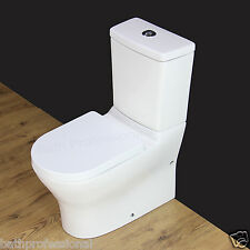 Toilet WC Bathroom Close Coupled Square Ceramic Soft Closing Seat Dual Flush T13