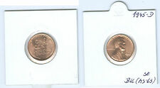 USA 1 Cent Lincoln 1945 D brilliant uncirculated (MS-65)