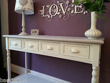 Sideboard Server Console Table Cream 4 Drawer Country Cottage Tables Wood Shelf