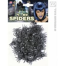 Set of 60 Spiders for Insects Bugs Halloween Decoration