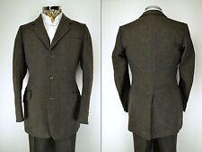 """H. Huntsman Savile Row Vintage 3 Piece Tweed Suit 38"""" Ex Long 1950's"""
