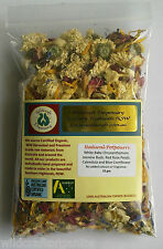 POT POURRI 15gm Natural Dried Flowers NO ADDITIVES Craft Wax Incense Christmas