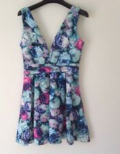 Pretty Boohoo Floral Print Skater Dress Size 10