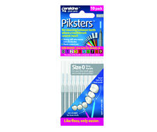 Piksters Interdental Brushes - 10 Pack - Size 0 - Grey - Brand New