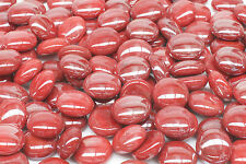 GLASS PEBBLES - RED 500g FOR MOSAIC ART OR CRAFT, VASES, AQUARIUMS