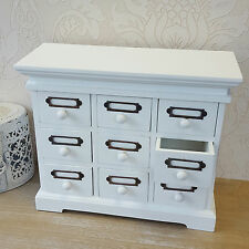 White Shabby Chic Vintage Style Drawers Chest Display Storage