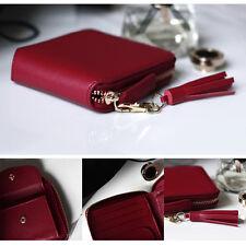 Fashion Women Leather Bifold Wallet Zipper Clutch Card Holder Purse Lady bag Red