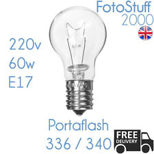 Portaflash 60w Modelling Bulb 220v 60w E17 | For Portaflash 336VM 340VM Krypton