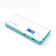 50000mAh 2 USB Power Bank LCD LED Backup External Battery Charger For Phone Blue