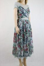 ASOS SALON Soft Floral Midi Prom Dress UK SIZE 10 38
