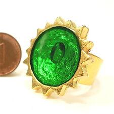 SoHo® Ring Sonne gold Kunstharz grün retro Resin Harz SoHo green
