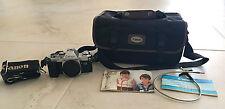 CANON AL-1 QF 35 mm Film Camera + FOCAL M-200 Flash Unit + accessories