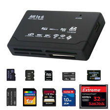 ALL IN 1 MULTI MEMORY CARD USB V2.0 READER SD SDHC MINI MICRO M2 MMC XD CF