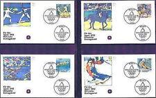 BRD 1992: Sport-FDC der Nr 1592-1595 mit Bonner Ersttags-Sonderstempeln! 1A! 158