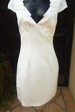 NWT Bluejuice White  Lined  Dress, Cap Sleeves, V Neck Size 10 RRP $190