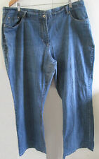 Ladies Expression Size 22 Blue Denim Jeans Cotton Blend Stretch