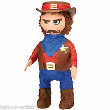 Wild West Western Cowboy Sheriff Character BASH Pinata Party Game Decoration