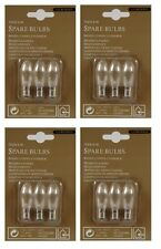 4 x Lumineo Indoor Spare Candle Bridge Bulbs Replacement Bulbs 3 Bulbs 34V 3W