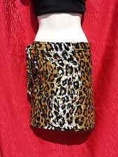Leopard Print Ladies Wrap Skirt / Sarong Size 6-8-10-12 Over Bathers/Swimwear