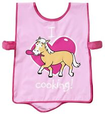 Bugzz Kids Pink Pony Spoon Tabard Childrens Childs Girls Painting Cooking Apron