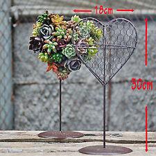 French Provincial Metal HANGING PLANTER HEART Pot Plant Holder flower basket NEW