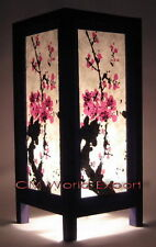 ASIAN ORIENTAL DECOR LIVING ROOM / COFFEE TABLE LAMPS - *CHERRY BLOSSOM TREE-*