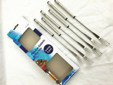 Set of 6 Stainless Steel Cheese Fondue Forks Fork