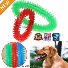 2 X Rubber Pet Dog Puppy Healthy Dental Teeth Cleaning Gums Chew Biting Ring Toy