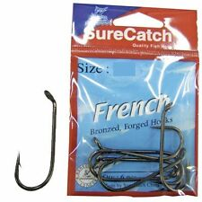 Surecatch French Forged Hook - 4/0, Bronzed, 8 Pack - Boating Camping Fishing