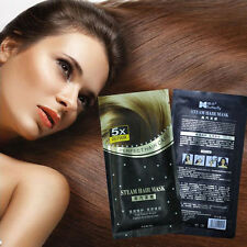 Heating Steam Hair Mask Keratin Argan Oil Treatment Hair Coarse Dry Split Ends