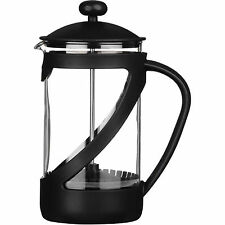 Black Kenya 4 Cup Glass Cafetiere Coffee Heat Resistant 600ml Modern Cups New