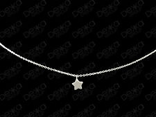 Genuine 925 Sterling Silver Star Necklace Pendant Small Mini Charm Girls Women