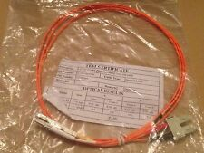 Fibre Optic Duplex Patch Cable LC to SC - 2m OM3 - New in Pack - 2LCSCOM3DOR