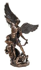 Archangel Saint Michael stepping on demon Religious Statue figurine 38cm (H)