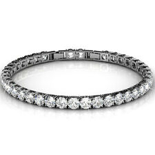 18k white gold gp genuine SWAROVSKI crystal Tennis Bracelet