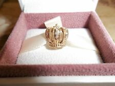 Genuine Authentic Pandora 14ct Gold & Diamond Crown Charm 750453D