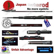 "INTERLINE FISHING ROD 4.5M ""NO EYELET"" FOR SHIMANO,DAIWA, JARVIS REELS"
