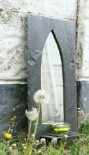 SLATE MIRROR. Gothic Arch with or without shelf.