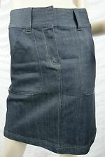 SABA dark blue denim A-line skirt size 8 NWOT