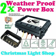 2x DriBox Waterproof Dry Box for Outdoor Garden Christmas Lights Safe Dry Power