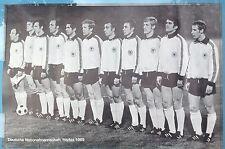 Plakat Poster DFB deutsche Fußball Nationalmannschaft Weltmeisterschaft Mexiko70