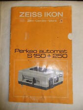 Instructions slide projector ZEISS IKON PERKEO AUTOMAT S150 + 250  CD/EMail