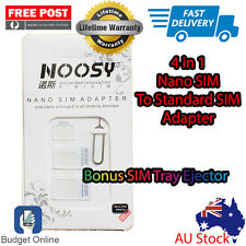Noosy 4 In 1 SIM Card Adapter Kit Nano to Standard Converter Tray for iPhone 6s