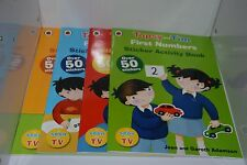 NEW Ladybird Topsy and Tim First Words Sticker Activity set 4 Books early learn