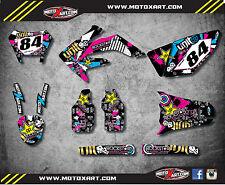 Full  Custom Graphic Kit RUSH STYLE HONDA CRF 250 X 2004 - 2016 decals stickers