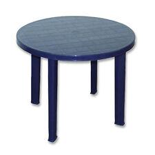 Gartentisch Tondo 90 x 72 cm rund blau Balkontisch Bistrotisch Gartenmöbel NEU
