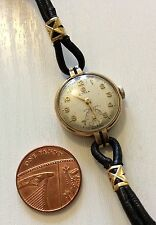 Lovely Ladies High Quality Vintage Solid Gold 9ct Cyma Wristwatch Working
