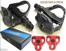 Exustar EPR16 LOOK KEO Compatible Bicycle Pedal for Racing Bike + Cleats E-PPR16