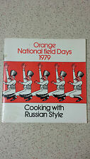 COOKING WITH RUSSIAN STYLE orange national field days 1979 S/C
